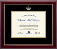 Embossed Law Certificate Frame in Gallery