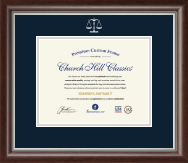 Embossed Law Certificate Frame in Devonshire