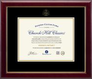 Embossed Dental Certificate Frame in Gallery