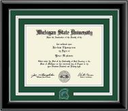 Spirit Medallion Diploma Frame in Onyx Silver