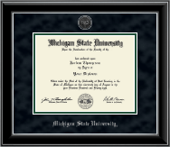 Silver Engraved Heirloom Edition Diploma Frame in Onyx Silver