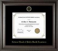Gold Embossed Certificate Frame in Acadia