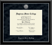 Daytona State College Silver Engraved Medallion Diploma Frame in Onyx Silver