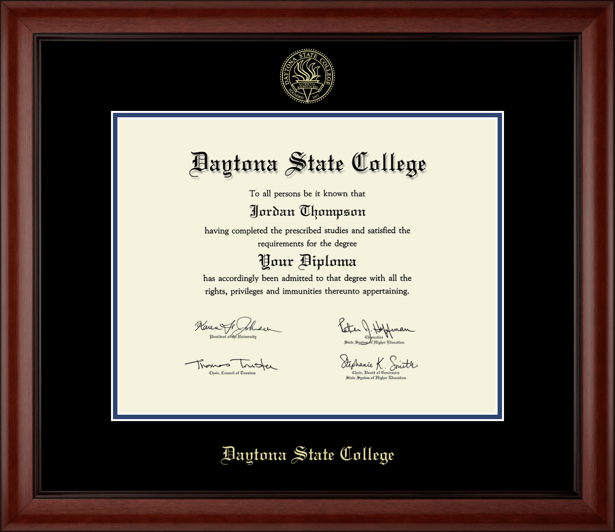Daytona State College Gold Embossed Diploma Frame In Cambridge Item 202756