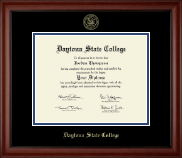 Daytona State College Gold Embossed Diploma Frame in Cambridge