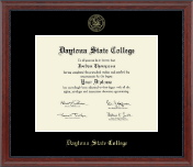 Daytona State College Gold Embossed Diploma Frame in Signature