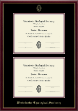 Double Certificate Frame in Galleria