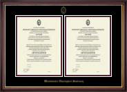 Double Certificate Frame in Lancaster
