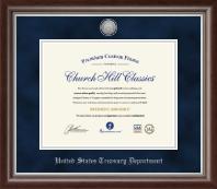 Silver Engraved Certificate Frame in Devonshire