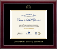 Gold Embossed Certificate Frame in Gallery