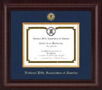 Presidential Gold Engraved Certificate Frame in Premier