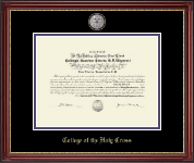 Purple Enamel Masterpiece Medallion Diploma Frame in Kensington Gold