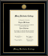 Gold Engraved Diploma Frame in Onyx Gold