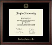 Baylor University Gold Embossed Diploma Frame in Studio