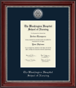Silver Engraved Diploma Frame in Kensington Silver