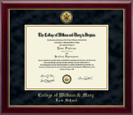 Gold Engraved Cypher Logo Medallion Diploma Frame in Gallery