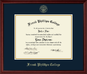 Frank Phillips College Gold Embossed Diploma Frame in Camby