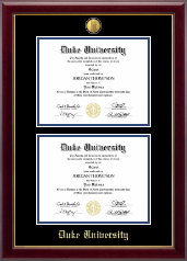 23K Double Diploma Frame in Gallery