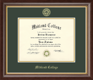 Midland College Gold Embossed Diploma Frame in Hampshire