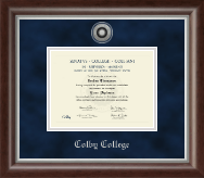 Silver Engraved Diploma Frame in Devonshire