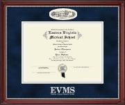 Campus Cameo Diploma Frame in Kensington Silver