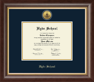 Gold Engraved Diploma Frame in Hampshire
