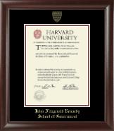 Gold Embossed Diploma Frame in Rainier