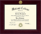 Midland College Century Gold Engraved Diploma Frame in Cordova