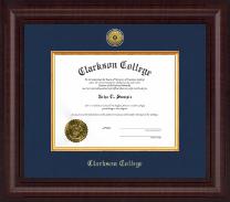 Clarkson College Presidential Gold Engraved Diploma Frame in Premier
