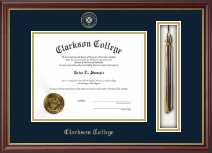 Clarkson College Tassel Edition Diploma Frame in Newport