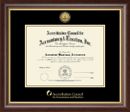 Gold Engraved Certificate Frame in Hampshire
