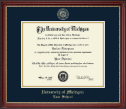Masterpiece Edition Diploma Frame in Kensington Gold