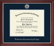 Lakeland Community College Silver Engraved Diploma Frame in Kensington Silver