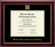 Bossier Parish Community College Gold Embossed Diploma Frame in Gallery