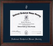 Silver Embossed Certificate Frame in Studio