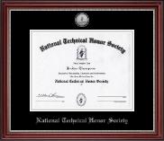 Silver Engraved Medallion Certificate Frame in Kensington Silver