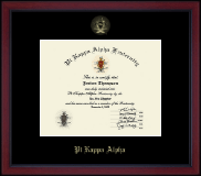Gold Embossed Academy Edition Certificate Frame in Academy