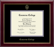 Converse College Gold Embossed Diploma Frame in Gallery