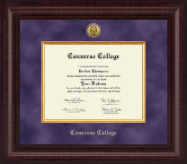 Converse College Presidential Gold Engraved Diploma Frame in Premier