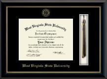 Tassel Diploma Frame in Onyx Gold
