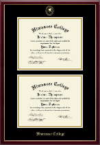 Gold Embossed Double Diploma in Galleria