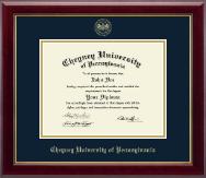 Cheyney University Gold Embossed Diploma Frame in Gallery