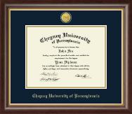 Cheyney University 23K Medallion Diploma Frame in Hampshire