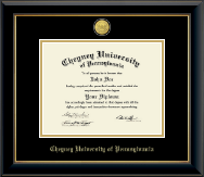 Cheyney University 23K Medallion Diploma Frame in Onyx Gold