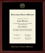 Gold Embossed Diploma Frame in Camby