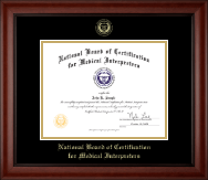 Gold Embossed Certificate Frame in Cambridge