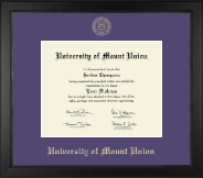 Gold Embossed Diploma Frame in Arena
