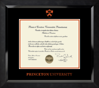 Orange Embossed Diploma Frame in Eclipse