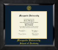 Yellow Embossed Diploma Frame in Eclipse