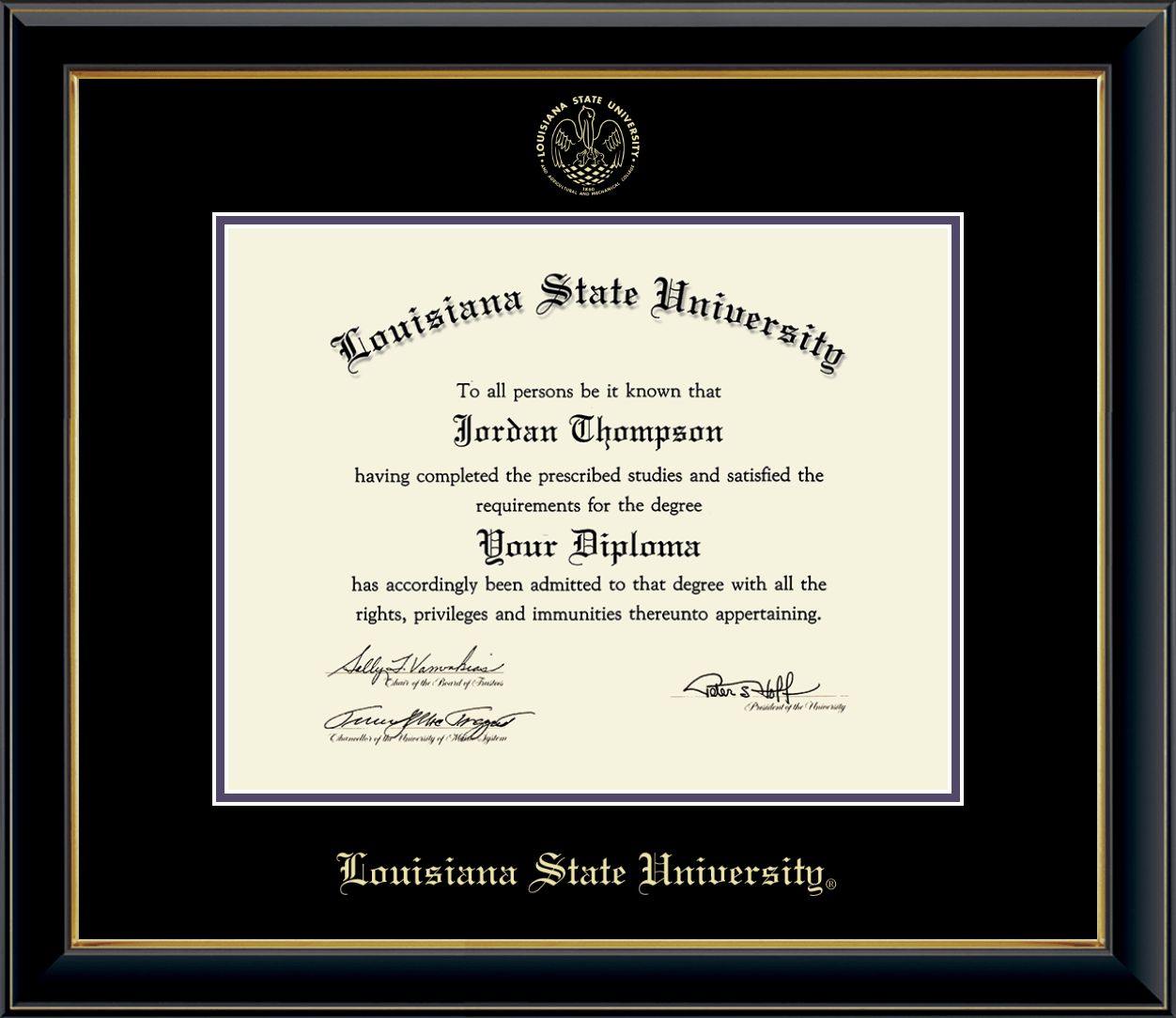 XULA diploma frame Xavier University of Louisiana certificate framing graduation document plaque XULA degree gift college picture campus